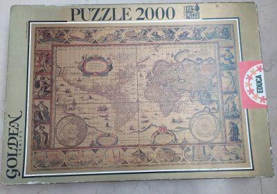 Image of the puzzle 2000, Educa, Nova Totius Terrarum Orbis, by Joan Blaeu, Sealed Bag, Picture of the box