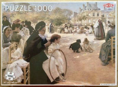 Image of the puzzle 1000, Tactic, Luxembourg Gardens, by Albert Edelfelt, Factory Sealed