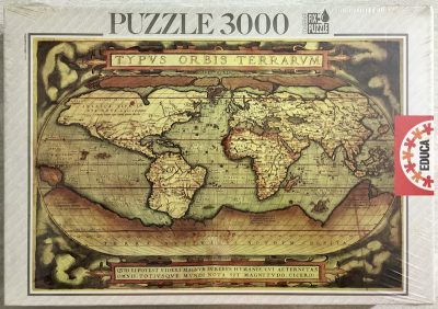 Image of the puzzle 3000, Educa, Typus Orbis Terrarum, by Abraham Ortelius, Factory Sealed