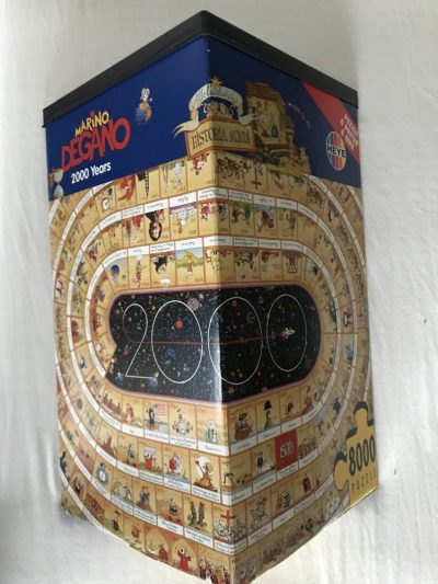 Image of the puzzle 8000, Heye, 2000 Years, by Marino Degano, Sealed Bag, Picture of the box