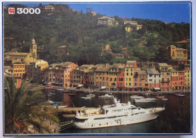 Image of the puzzle 3000, Jumbo, Portofino, Italy, Factory Sealed, Picture of the box