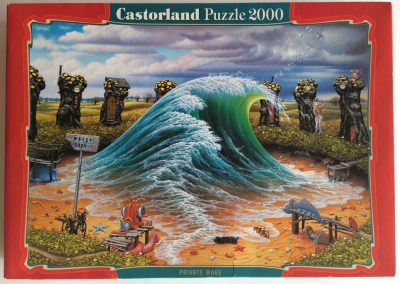 Image of the puzzle 2000, Castorland, Private Wave, by Jacek Yerka, Sealed Bag, Picture of the box