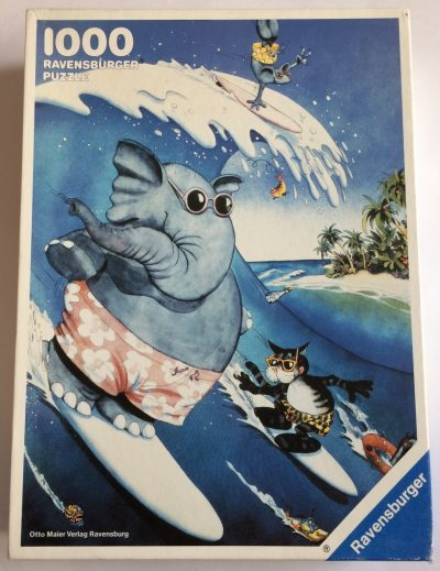 Image of the puzzle 1000, Ravensburger, Surfer, Sealed Bag, Picture of the box