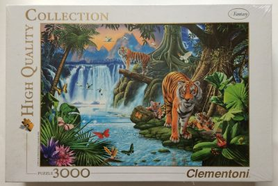 Image of the puzzle 3000, Clementoni, Tigers Family, by Jan Patrik Krasny, Factory Sealed