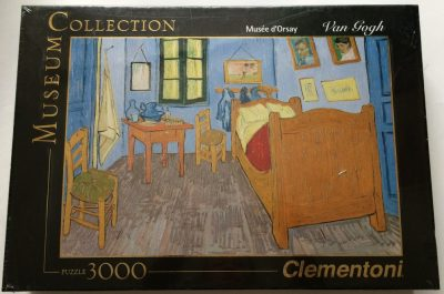 Image of the puzzle 3000, Clementoni, Van Goghs Room at Arles, by Vincent van Gogh, Factory Sealed, Listed by Olga