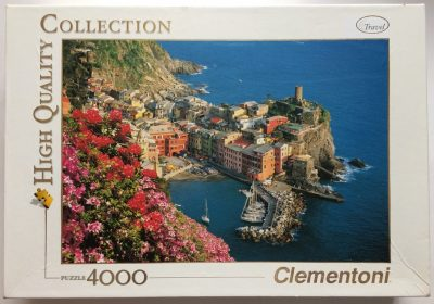 Image of the puzzle 4000, Clementoni, Vernazza, Sealed Bag, Picture of the box