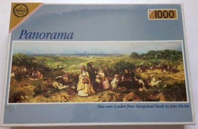 Image of the puzzle 1000, Falcon, View over London from Hampstead Heath, by John Ritchie, Factory Sealed, Picture of the box