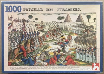 Image of the puzzle 1000, Nathan, The Battle of the Pyramids, by Jean-Charles Pellerin, Complete, Picture of the box