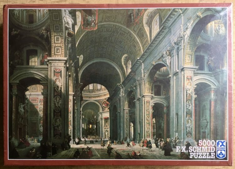 Image of the puzzle 5000, F.X. Schmid, Saint Peter's Cathedral, by Giovanni Panini, Factory Sealed