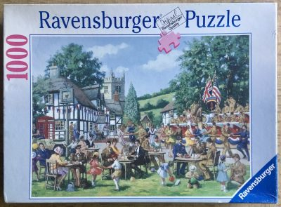 Image of the puzzle 1000, Ravensburger, In the Mood, by Alan King, Complete, Picture of the box
