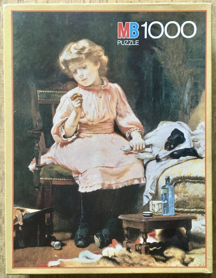 Image of the puzzle 1000, MB, Not Much Wrong, by Charles Burton Barber, Complete, Picture of the box