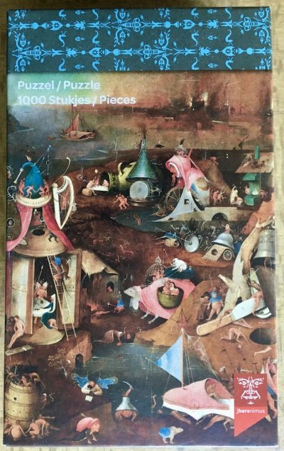 Image of the puzzle 1000, Puzzelman, The Last Judgement, by Hieronymus Bosch, Complete, Picture of the box