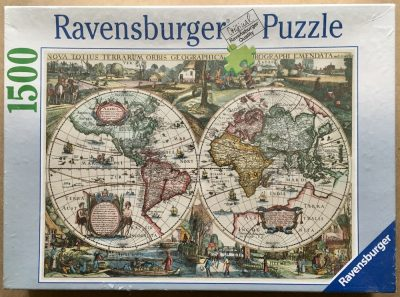Image of the puzzle 1500, Ravensburger, Historic World Map 1636, Factory Sealed