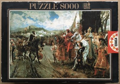 Image of the puzzle 8000, Educa, The Capitulation of Granada, by Francisco Pradilla, Complete, Picture of the box