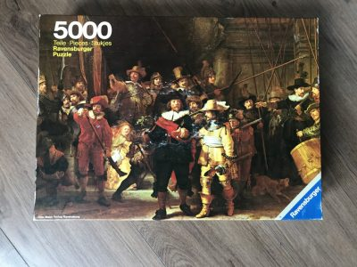 Image of the puzzle 5000, Ravensburger, The Night Watch, by Rembrandt, Picture of the box