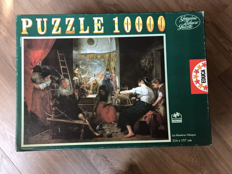 Image of the puzzle 10000, Educa, Las Hilanderas, by Diego Velázquez, Sealed Bag, Picture of the box
