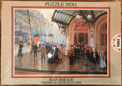 Image of the puzzle 1500, Educa, Theatre du Vaudeville, by Jean Béraud, Factory Sealed, Picture of the box