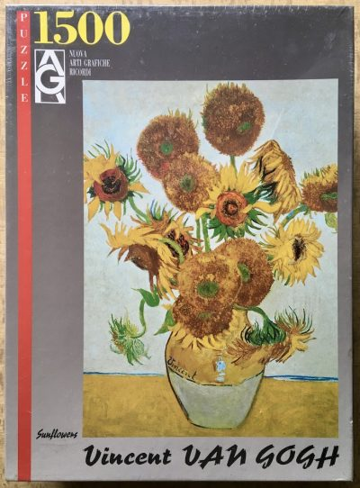 Image of the puzzle 1500, Ricordi, Sunflowers, by Vincent van Gogh, Factory Sealed