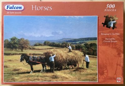 Image of the puzzle 500, Falcon, Bringing in the Hay, by Gerald Broom, Complete, Picture of the box