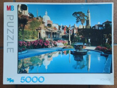 Image of the puzzle 5000, MB, Portmeiron, Wales, Edmund Nägele, Sealed Bag, Picture of the box