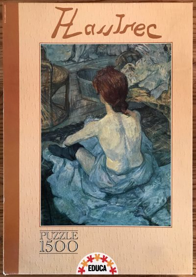 Image of the puzzle 1500, Educa, La Toilette, by Henri de Toulouse-Lautrec, Sealed Bag, PIcture of the box