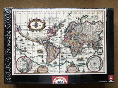 Image of the puzzle 6000, Educa, Ancient Map of the World, Factory Sealed