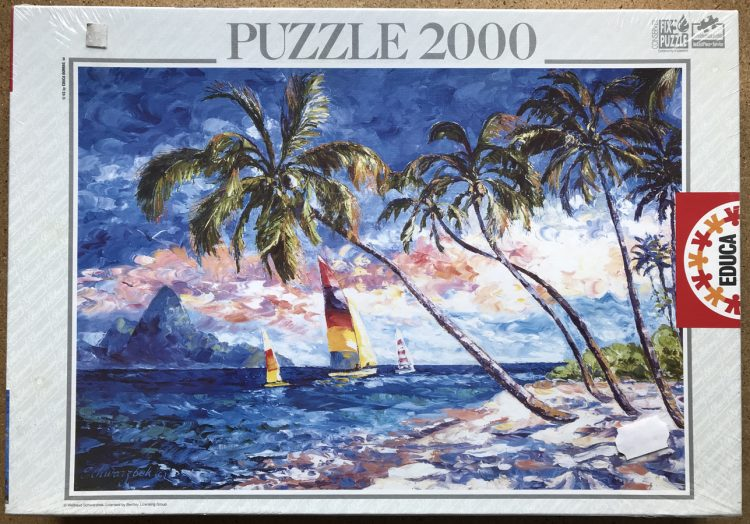 Image of the puzzle 2000, Educa, Caribbean Shores, Unknown Artist, Factory Sealed