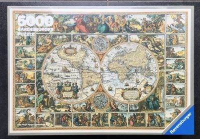 Image of the puzzle 5000, Ravensburger, Historical Map of the World, Factory Sealed, Listed by Bram