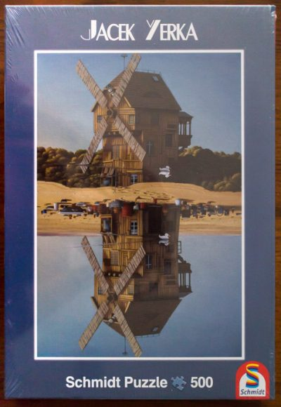Image of the puzzle 500, Schmidt, Reflections, by Jacek Yerka, Factory Sealed