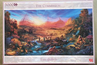 Image of the puzzle 3000, Jumbo, The Commission, by Tom duBois, Sealed Bag, Picture of the box