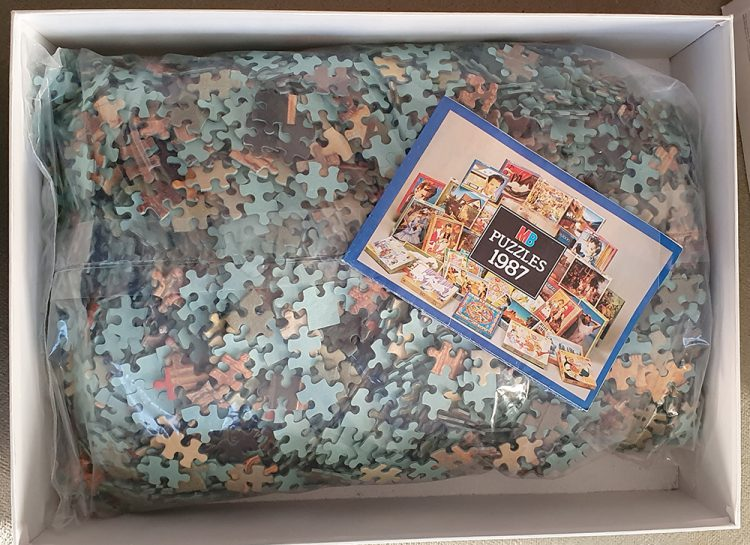 Image of the puzzle 4000, MB, Venice, Canaletto, Sealed Bag, Picture of the bag