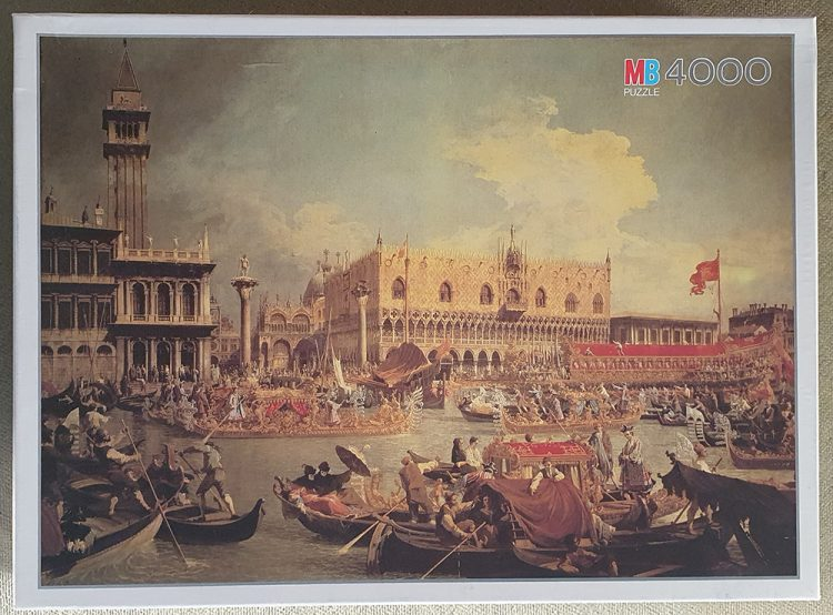 Image of the puzzle 4000, MB, Venice, Canaletto, Sealed Bag, Picture of the box