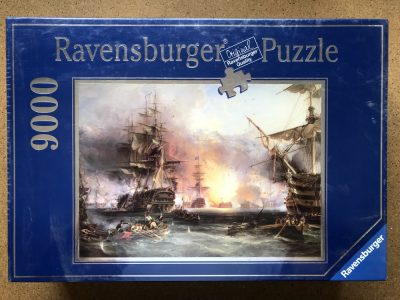 Image of the puzzle 9000, Ravensburger, Bombardment of Algiers, by George Chambers, Factory Sealed