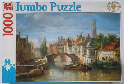 Image of the puzzle 1000, Jumbo, Brugge, Belgium, Factory Sealed, Picture of the box