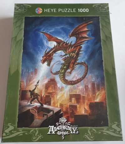 Image of the puzzle 1000, Heye, Babylons Burning, by Alchemy Gothic, Factory Sealed, Picture of the box
