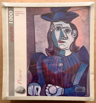 Image of the puzzle 1000, Art Stones, Woman with Blue Hat, by Pablo Picasso, Factory Sealed