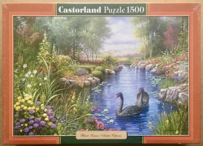 Image of the puzzle 1500, Castorland, Black Swans, Factory Sealed