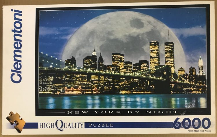 Image of the puzzle 6000, Clementoni, New York by Night, Factory Sealed, Picture of the box