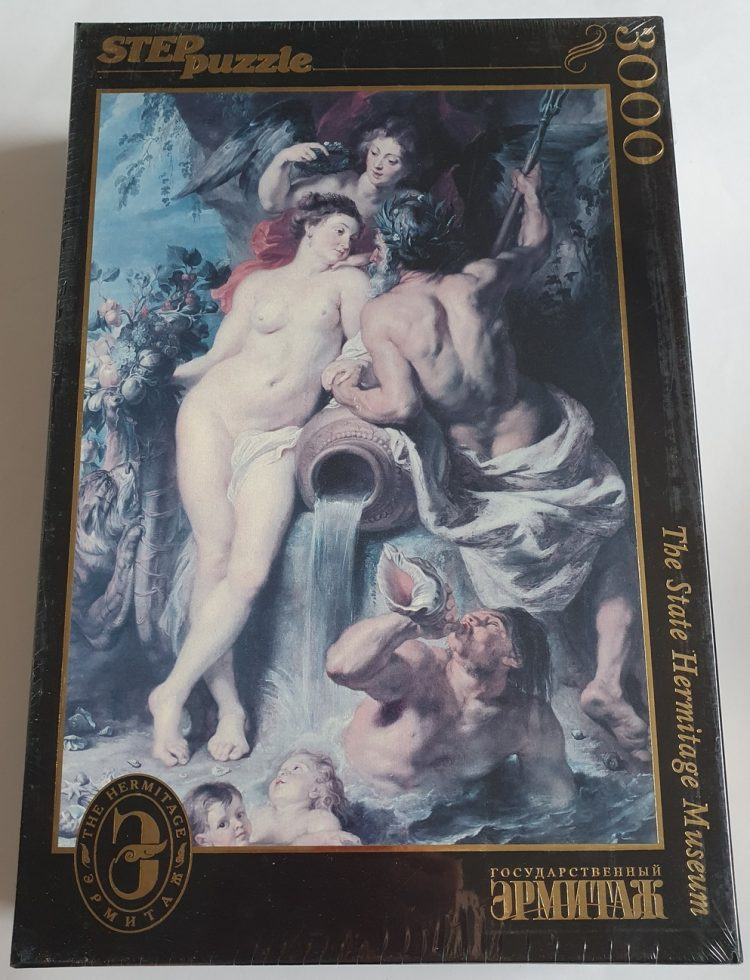 Image of the puzzle 3000, Step, Union of Earth and Water, Peter Paul Rubens, Factory Sealed, Picture of the box