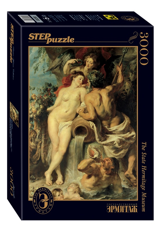 Image of the puzzle 3000, Step, Union of Earth and Water, Peter Paul Rubens, Factory Sealed, Picture of a stock image
