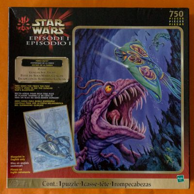 Image of the puzzle 750, Hasbro, Gungan Sub Escape (Double Sided Puzzle), Factory Sealed, Picture of the box
