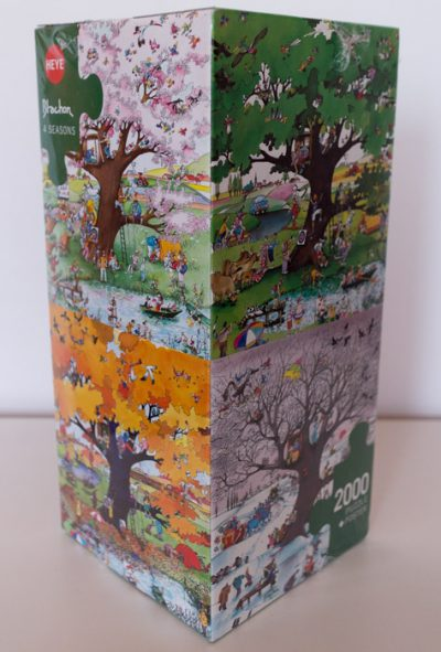 Image of the puzzle 2000, Heye, Four Seasons, Roger Blachon, Factory Sealed, Picture of the box
