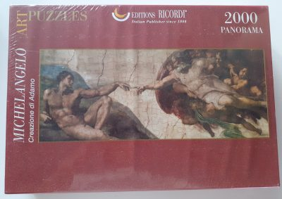 Image of the puzzle 2000, Ricordi, The Creation of Adam, by Michelangelo