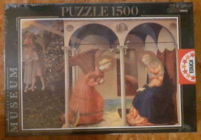 Image of the puzzle 1500, Educa, The Annunciation, by Fra Angelico, Factory Sealed