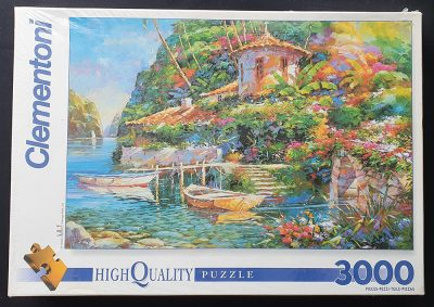 Image of the puzzle 3000, Clementoni, Bay of Romance, by Marko Mavrovich, Factory Sealed, Picture of the box