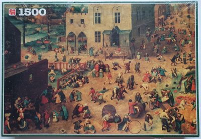 Image of the puzzle 1500, Jumbo, Childrens Games, Pieter Bruegel the Elder, Factory Sealed, Picture of the box