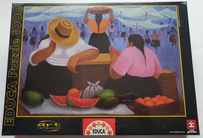 Image of the puzzle 1000, Educa, Fruit Vendors, by Eduardo Millones, Factory Sealed