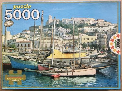 Image of the puzzle 5000, Educa, Ibiza, Spain, Sealed Bag, Picture of the box
