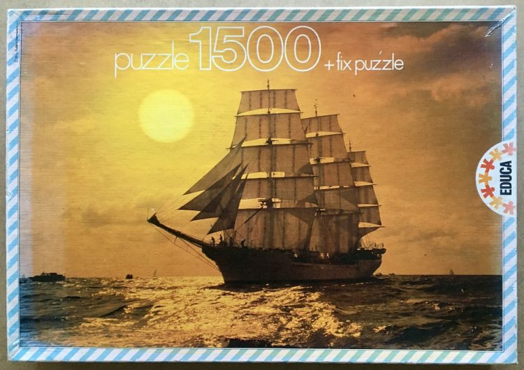 Image of the puzzle 1500, Educa, Twilight Landscape, Sealed Bag, Picture of the box