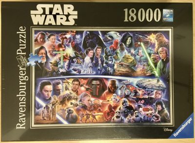Image of the puzzle 18000, Ravensburger, Star Wars Galactic Time Travel, Factory Sealed, Picture of the box